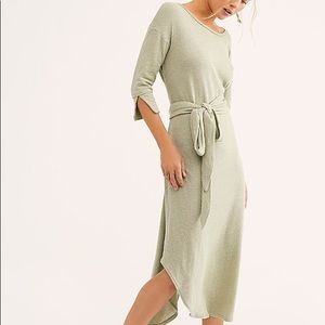Free People Beach Seafoam Valentina Midi Dress